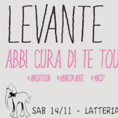 Vinci due biglietti per Levante il 14 novembre alla Latteria Molloy di Brescia