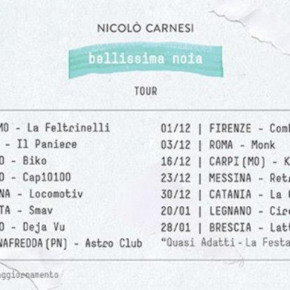 Album e tour per Nicolò Carnesi