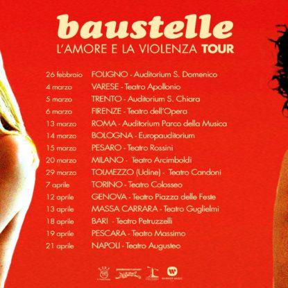 Album e tour nel 2017 per i Baustelle