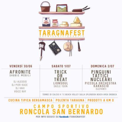Taragna Fest 30 giugno – 2 luglio, Roncola San Bernardo (BG)