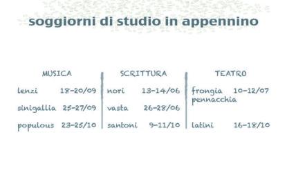 A settembre, laboratori di studio con Simone Lenzi e Riccardo Sinigallia