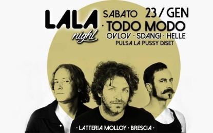 Vinci due biglietti per i Todo Modo il 23 gennaio alla Latteria Molloy di Brescia