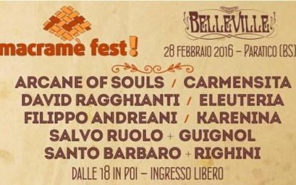 Macramè Fest a Paratico (BS) il 28 febbraio