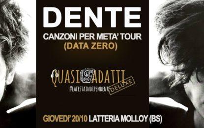 Vinci un biglietto per DENTE il 20 ottobre alla Latteria Molloy di Brescia