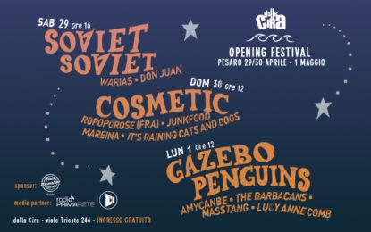 Dalla Cira Opening Festival a fine mese a Pesaro