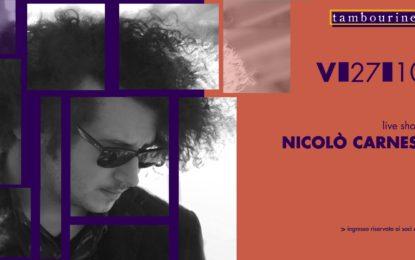 Vinci due biglietti per il concerto di Nicolò Carnesi del 27 ottobre al Tambourine