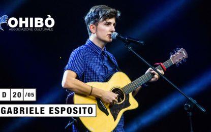 Concorso: vinci due biglietti per Gabriele Esposito il 20 maggio all'Ohibò (Milano)