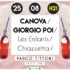 Concorso: vinci due biglietti per Canova + Giorgio Poi + Les Enfants a Desio